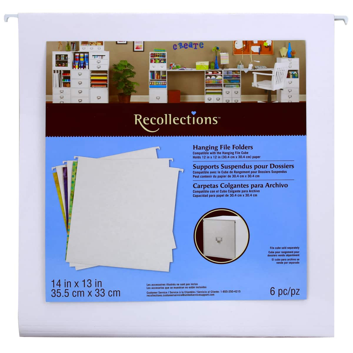 recollections hanging file cube