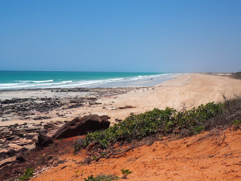 Fracking leases in the Kimberley include the town of Broome's world-famous Cable Beach. Image by Nick Rodway for Mongabay.