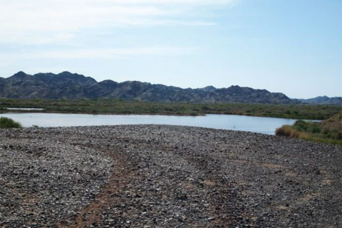 A view of a portion of the Colorado River Basin, Arizona. During the 2004-2013 drought, 50 cubic kilometers of groundwater (the equivalent of a column of water a mile across and twice the height of Mount Everest) vanished from the basin.