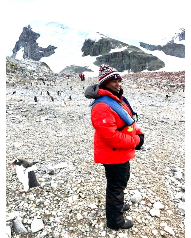 Project visit in Antarctica with colleagues. Photo credit: WWF/Alice Ruhweza