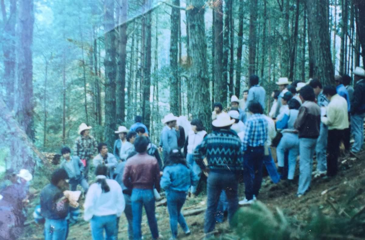 Comuneros en la Sierra de Zongolica.