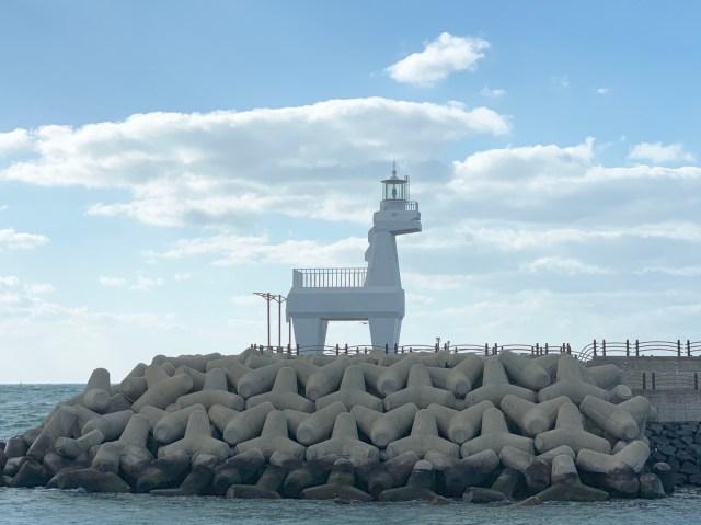 濟州島:梨湖海邊小馬燈塔
