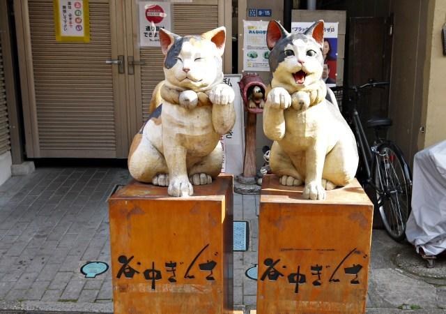 谷中銀座商店街:貓咪