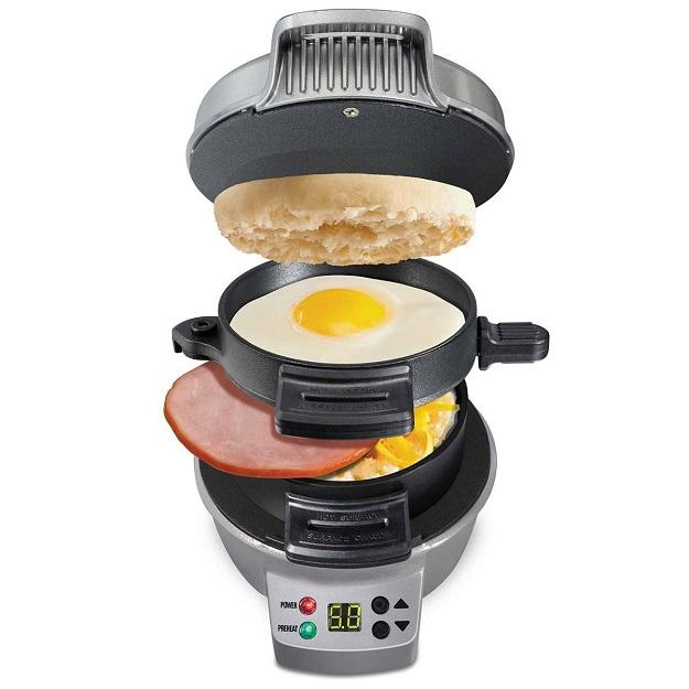 總是來不及吃早餐?省時不沾油煙「漢堡機」幫你疊好疊滿美味一次出爐 | 美國,廚房,家電,Hamilton Beach,漢 ...