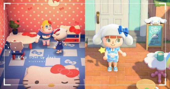 """动物穿越之友""三丽鸥联合大吃一惊!  Hello Kitty Limited外观,旋律服装和家具| 动物穿越,ACNH,动物穿越,三丽鸥,Hello Kitty | 手机小姐"