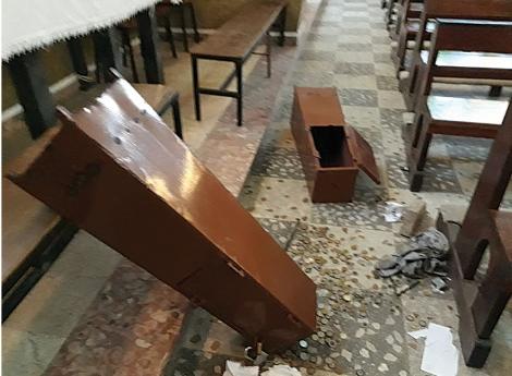 Marginais assaltam Igreja (Paróquia de Fátima)