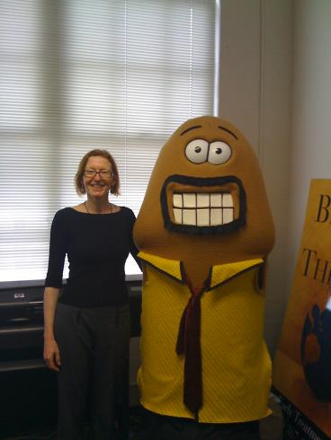 Doc Gurley & Byron, a 7-foot plush penis, from the Dept of Public Health's Healthy Penis Campaign