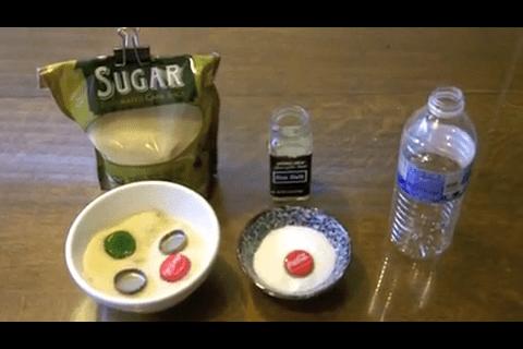 4 caps sugar, 1 cap salt, 500ml clean water = life