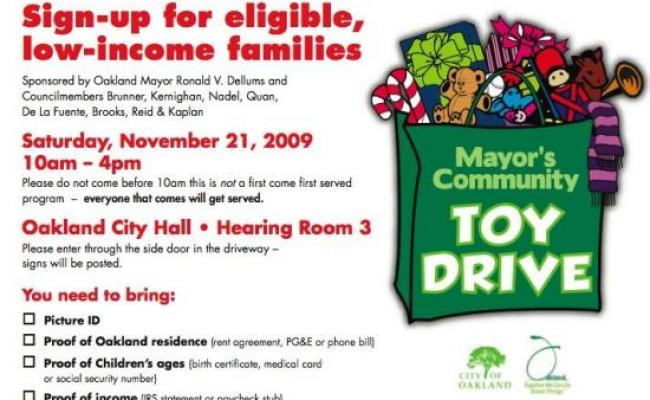 Holiday Toy Drive Sign Up In Oakland This Saturday Local