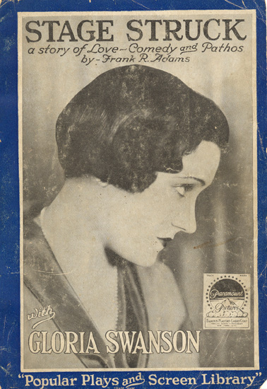 Gloria Swanson (step-mother of mayoral candidate Bevan Dufty) graces the cover of this scarce softcover photoplay edition.