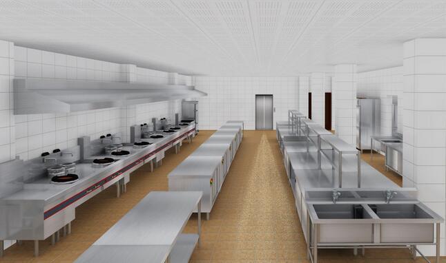 commercial kitchen tile hape 合理设计商用厨房 工作效率提高不止三倍 家居快讯 南宁房天下家居装修 商用厨房
