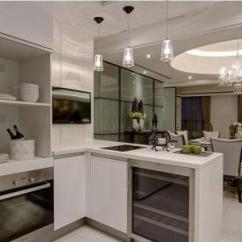 Open Kitchen Sink Small Pendant Lights For 什么是半开放式厨房 半开放式厨房装修的注意事项 房天下装修知识