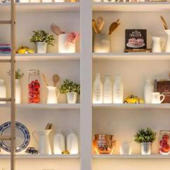 Kitchen Cabinets Ri Wall Shelving 不用大拆大改 只需一点时尚元素你家厨房就能大变样 房产资讯 房天下 大家在传统的厨房里总是习惯将东西藏在厨柜里 而现在的厨房收纳更倾向于将东西展示出来 在一些小户型家庭中 开放式的收纳架正在取代开门厨柜