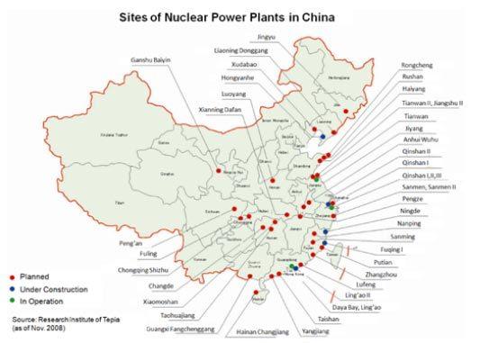 nhà máy điện hạt nhân, Việt Nam, Trung Quốc, Ninh Thuận