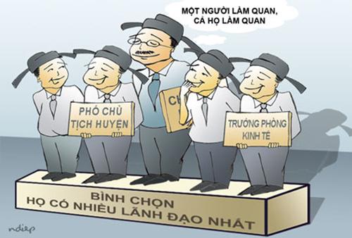Người tài người nhà, quy trình bổ nhiệm, cả họ làm quan, bổ nhiệm lãnh đạo