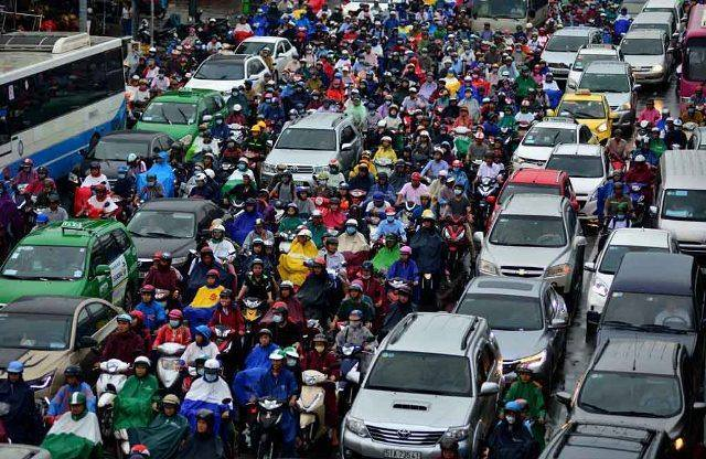 cấm xe máy, kẹt xe ở Sài Gòn, kẹt xe, tắc đường, giao thông, khó cấm xe máy