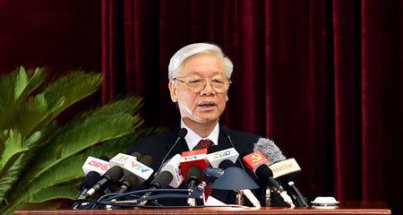 Hội nghị trung ương 5, Tổng bí thư, Nguyễn Phú Trọng, Bộ chính trị, Ban bí thư, nghị quyết trung ương 4, chỉnh đốn đảng