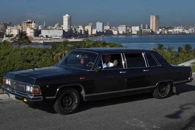 taxi, Havana, Cuba, xe-cổ, Limousine, Chủ-tịch, Fidel-Castro, VIP