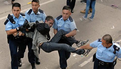 Hong Kong, biểu tình, tái chiếm, đường phố