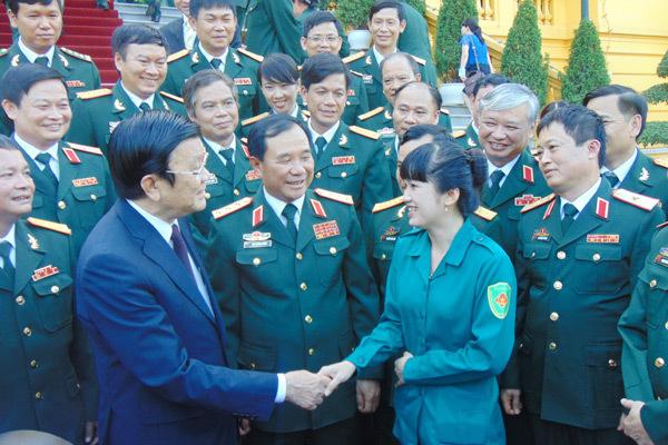 Trương Tấn Sang, Trường Sa, quân đội, Biển Đông, chủ quyền biển đảo