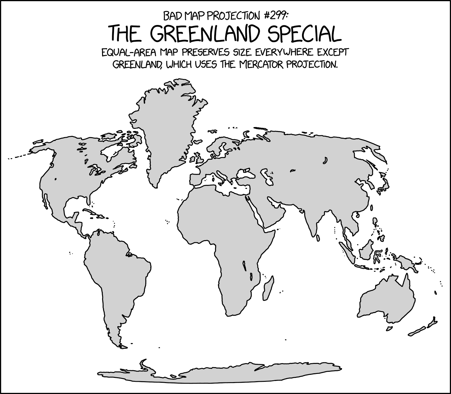 Graphic designers create a variety of visual presentations, from company logos and product labels to website graphics and glossy magazine advertisements. Xkcd Bad Map Projection The Greenland Special