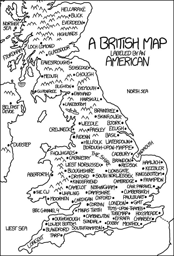 xkcd: British Map