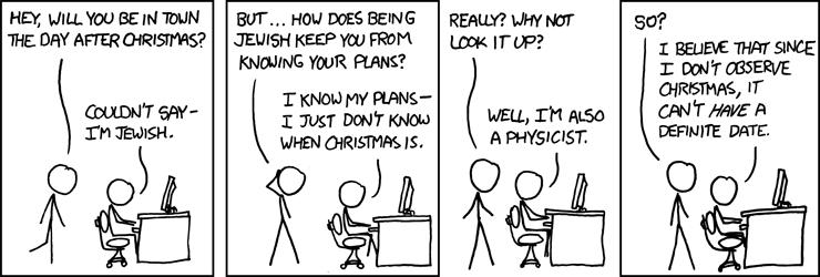 xkcd: Christmas plans.