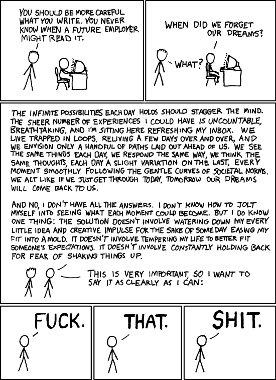Dreams from xkcd.com