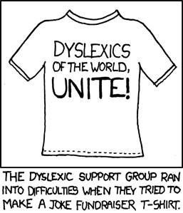 xkcd - dyslexics