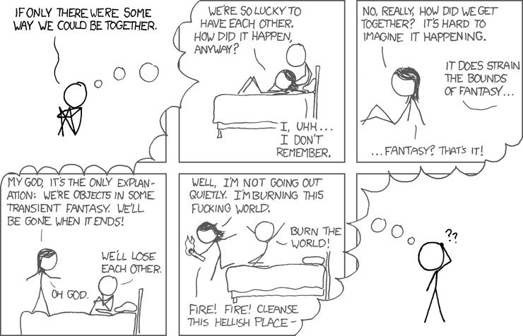 Fantasy, episódio de XKCD, por Randall Munroe