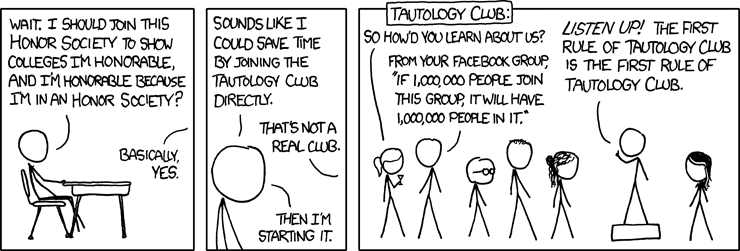 """Honor Societies"" from xkcd.com"
