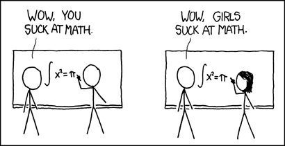 Comic from xkcd Girls Suck at Math