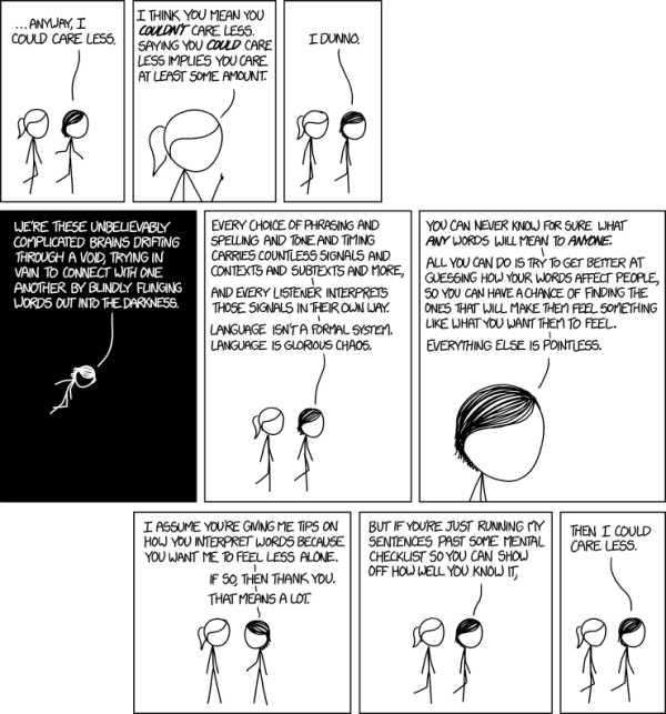 xkcd: I Could Care Less by Randall Munroe