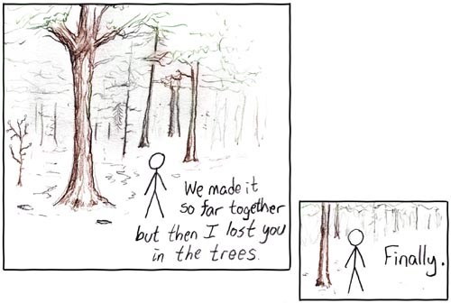 In The Trees by xkcd.