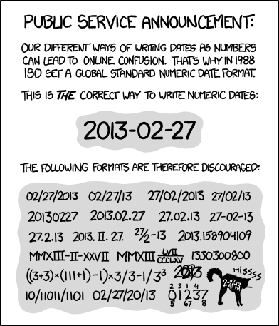 XKCD - ISO 8601