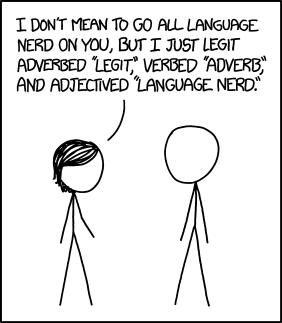 xkcd: Language Nerd