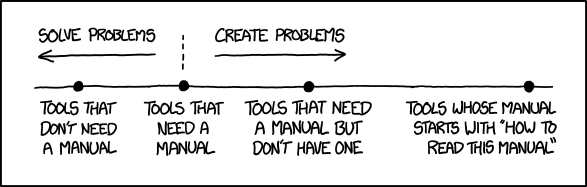 XKCD Manuals comic