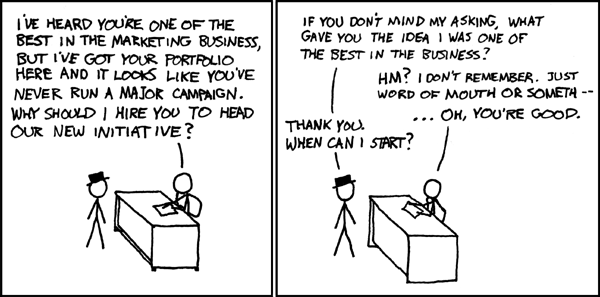 XKCD on Marketing!