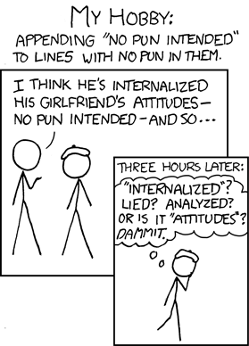 xkcd: No Pun Intended