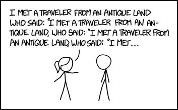 To understand recursive humor you have to understand recursive humor.