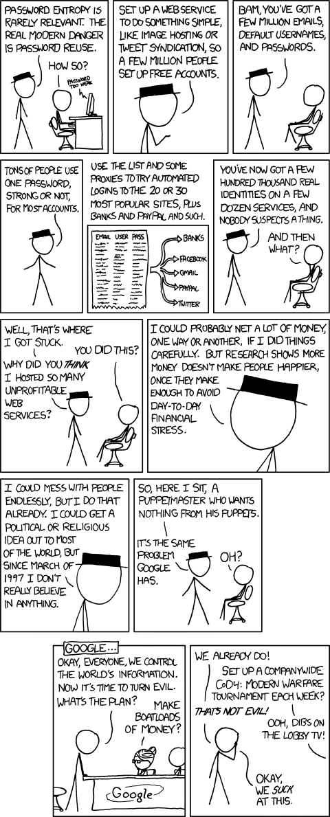 Password reuse su xkcd