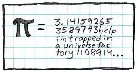 xkcd comic about pi with caption: my most famous drawing and one of the first I did for the site