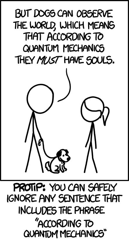 xkcd: Quantum Mechanics