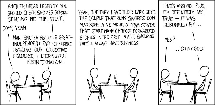 xkcd comic about Snopes