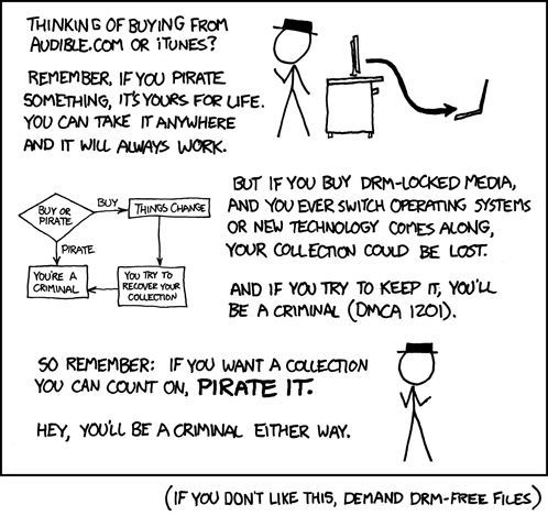 XKCD: How to make pirates out of your customers