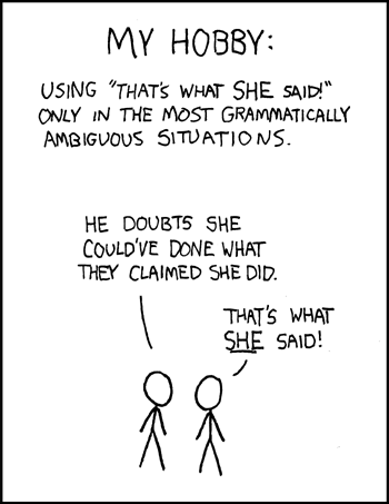 That\'s what she said