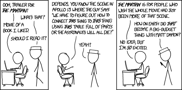 xkcd.com provides an image source URL for hotlinking/embedding, so I assume permission to use it here. Also: Read everything Randall Munroe writes because he's a genius.
