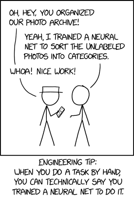 """It also works for anything you teach someone else to do. """"Oh yeah, I trained a pair of neural nets, Emily and Kevin, to respond to support tickets."""""""