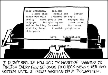Typewriter by XKCD web comic