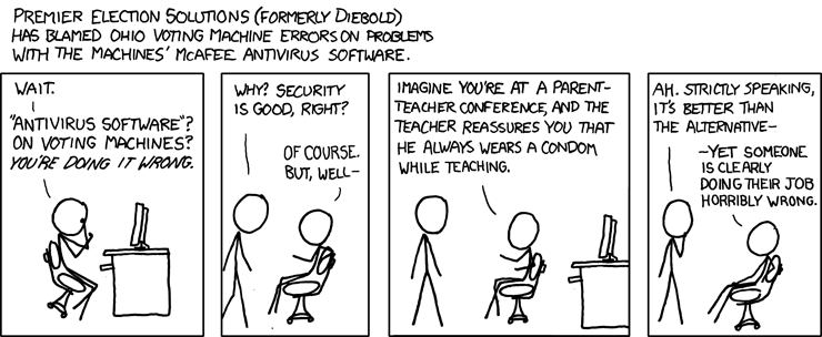 XKCD- Voting machines